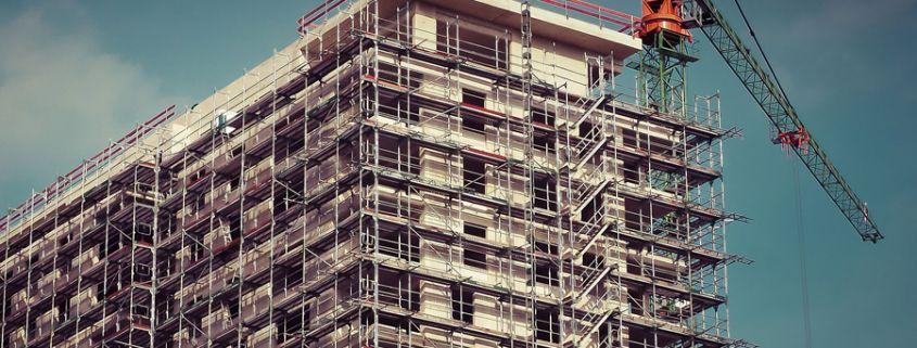 Crane over a Building
